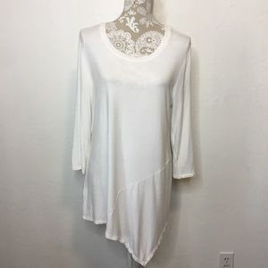 LOGO Layers Asymmetrical Tunic Large White 1007